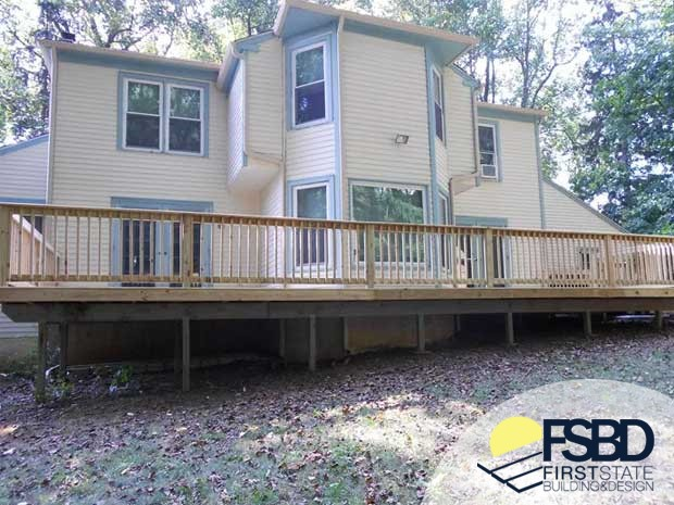 Wrap Around Deck First State Building Design